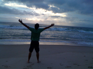 Early morning walk on the beach..