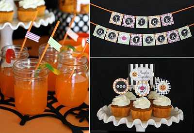 Halloween party banner drinks